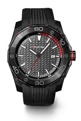 Audi Sport Watch Black Rubber Watches Collectables - Audi watch