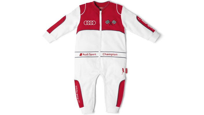 Audi Sport Babys Racing Body size - 74/80 - White