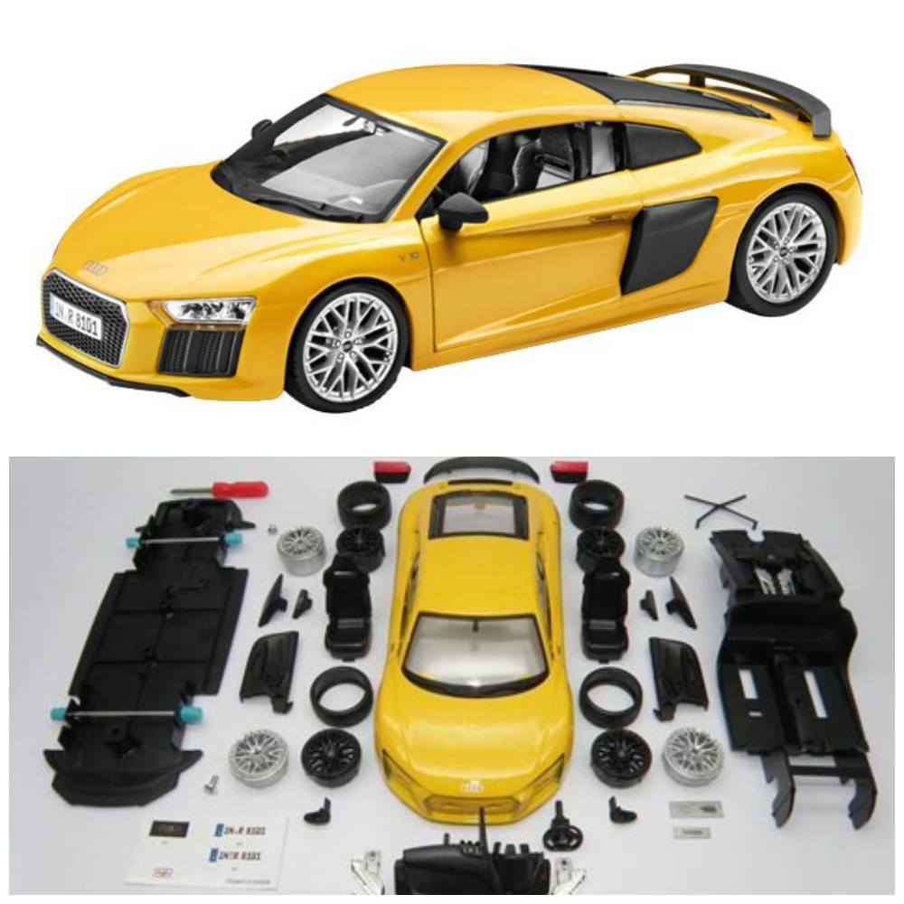 Turbo Kit Audi R8 V10: Assembly Line R8 V10 1:24 Vegas Yellow