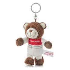Key ring motorsport bear