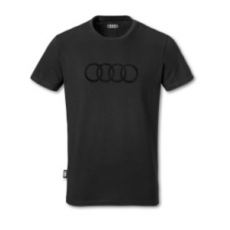 Mens Shirt Audi Rings Black