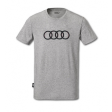 Mens Shirt Audi Rings Grey