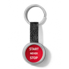 Audi Sport Key ring Start/Stop - Red -Silver