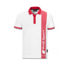 Audi Sport Poloshirt, Mens, white/red