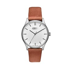 Audi Watch - Womens - Silver/Brown