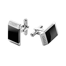 Audi Cuff links - Mens - Black/Silver