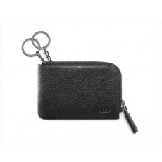 Vehicle key pouch, black pebbled